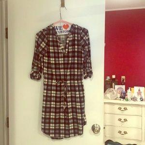 Plaid warm dress